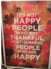 It's not Happy People who are Thankful
